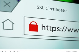 HTTPS Close-up of a browser window showing lock icon during SSL connection
